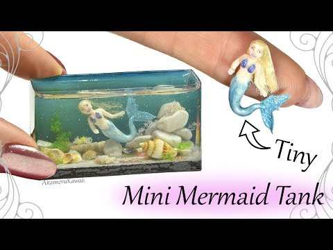 How to: Mini Mermaid Aquarium / Fish Tank - Resin & Polymer Clay Craft Tutorial