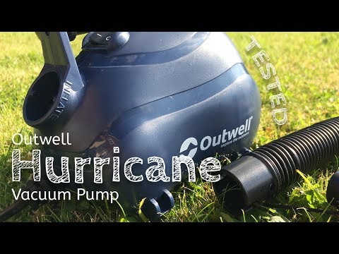 Outwell Hurricane Vacuum Pump - Good enough to clean your tent?