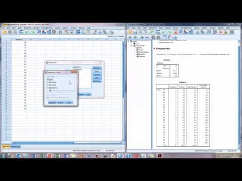 How To...  Calculate the Mean, Median, and Mode in SPSS