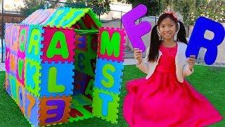 ABC Playhouse Song | Wendy Pretend Play w/ ABCs Toys & Learns the Alphabet Nursery Rhymes Songs