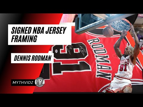 NBA Jersey │ DIY │Framing DENNIS RODMAN Signed Jersey