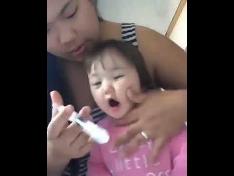 How to clean your baby nose | baby cleaning nose with salt water soooo cute
