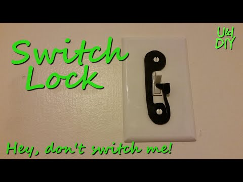 Switch lock - DIY tutorial