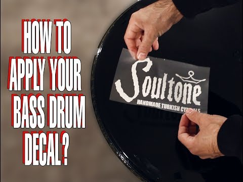 How to apply your bass drum decal.