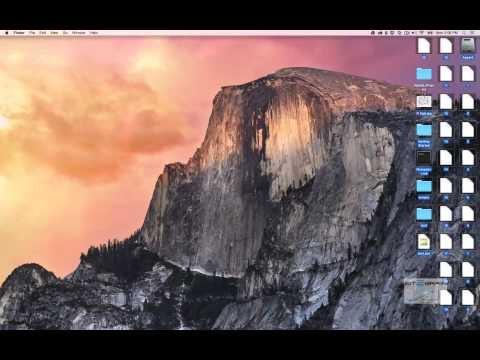Mac OS X Yosemite Desktop Environment