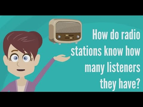 How do radio stations know how many listeners they have ?