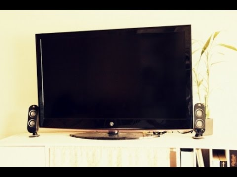 Cheap way to improve your HD TV speaker sound using PC Speakers