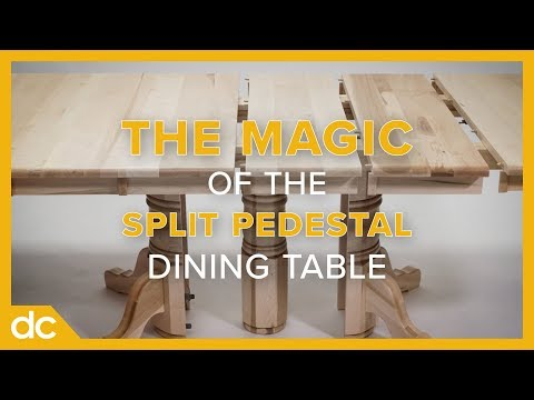 The Magic of the Split Pedestal Dining Table