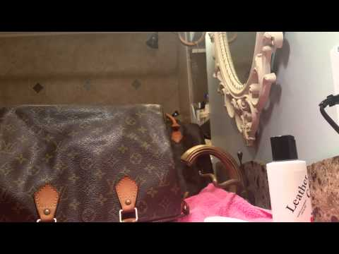 How to clean Louis Vuitton dark handle with Lovin My Bags (speedy #3)