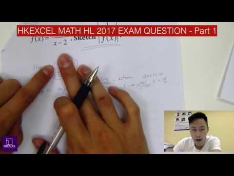 IB Math HL 2017 Tip question l HKExcel