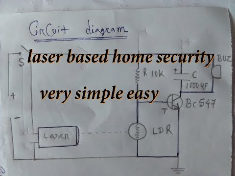 how to Make laser light home security system very easy and low cost