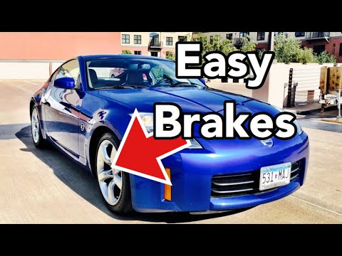 Nissan 370Z Front Brake Pads and Rotor Replacement - Bundys Garage