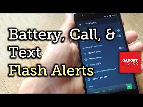 Get LED Flash Alerts for Calls, Texts, & Battery Percentage on Android [How-To]
