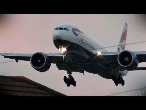 Late Afternoon to Evening | Sunset Arrivals 27L | Myrtle Avenue, London Heathrow Airport LHR/EGLL