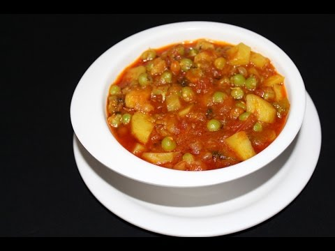 aloo matar recipe -  aloo mutter masala gravy - side dish for chapathi -  aloo matar curry