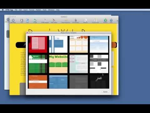 How to add a new web page using HTML Egg for Mac