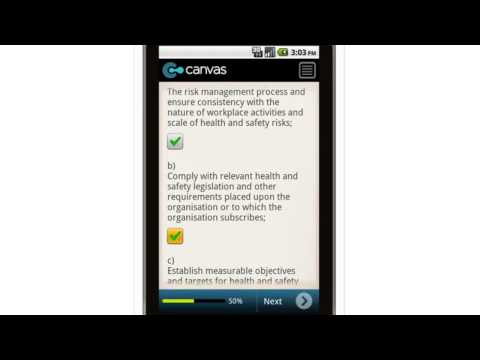 Canvas OHS Audit Tool Health and Safety Policy Mobile App