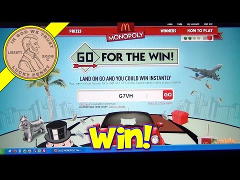 McDonald's 2012 Monopoly Game - How To Enter 11-Digit Codes On Web Site - Win Prizes!