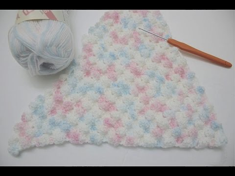 How to crochet the Puffy Corner to Corner C2C Bobble Stitch Increasing and Decreasing