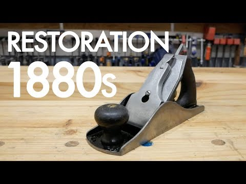 Restoring A Rare Hand Plane   Stanley #4 1/2 (REALLY OLD 1800s!)