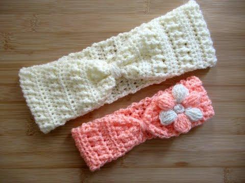 Crochet Headband ear warmer Adults Baby ANY SIZES tutorial Happy Crochet Club