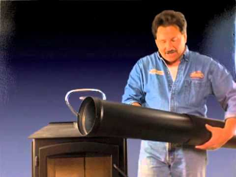 Durablack single wall stove pipe kit 1674 telescoping length