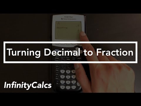 How to Change Decimal to Fraction on Ti 84 Graphing Calculator