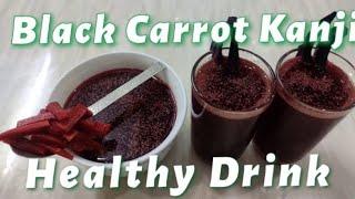 Black Carrot Kanji /How to make Kali Gajar Kanji/ Healthy Drink