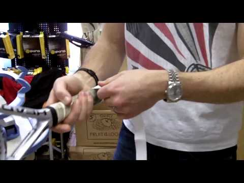 How to put a grip on your tennis/squash racket by pdhsports.