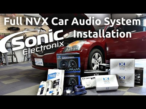 Car Audio Installation - 2008 Nissan Altima Full NVX System - Speakers, Subs + more