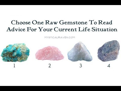 Choose One Raw Gemstone To Read Advice For Your Current Life Situation!