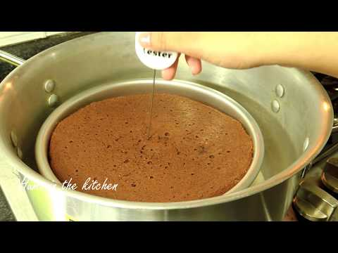 How To Make Chocolate Sponge Cake Without Oven - Chocolate Cake Recipe by (HUMA IN THE KITCHEN)