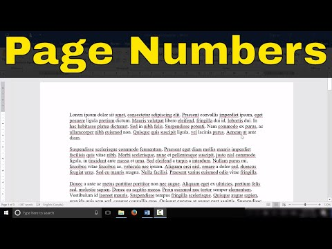 How To Add Page Numbers In Microsoft Word-Tutorial