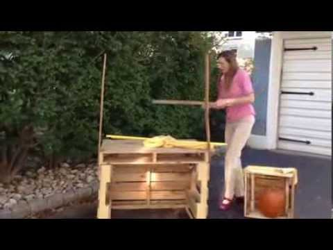 How to Put Together the Pallet Lemonade Stand