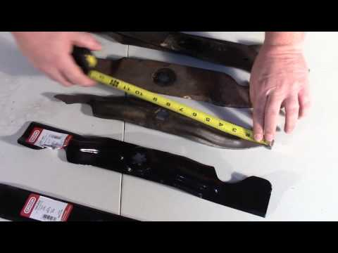How to Measure Your Mower Blade