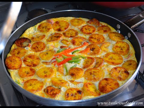 HOW TO MAKE PLANTAIN AND EGG FRITTATA - ZEELICIOUS FOODS