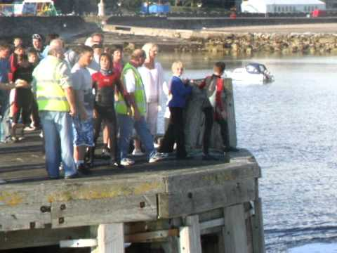 Millport's farewell to the Waverley 28.07.2010