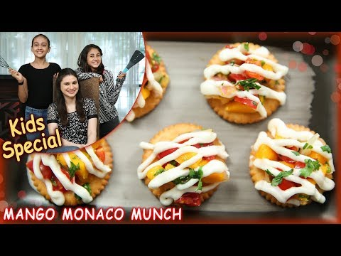 Mango Monaco Munch - Quick & Easy Snack Recipe - Kids Special Recipe - Ruchi Bharani