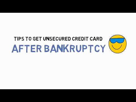 How To Get Unsecured Credit Card After Bankruptcy