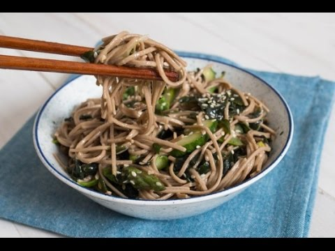 Recipe of Soba Salad With Seaweed, Cucumbers, and Asparagus