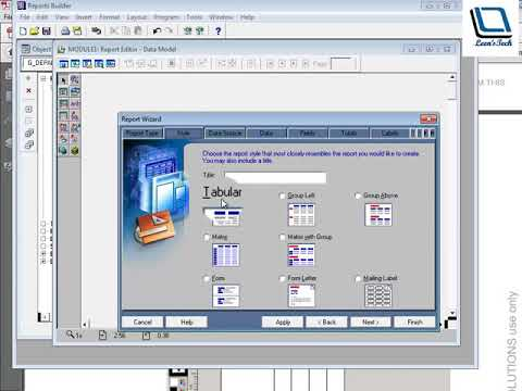 Oracle Reports 10g Tutorial in Bangla: Adding a Graph to a Paper Report