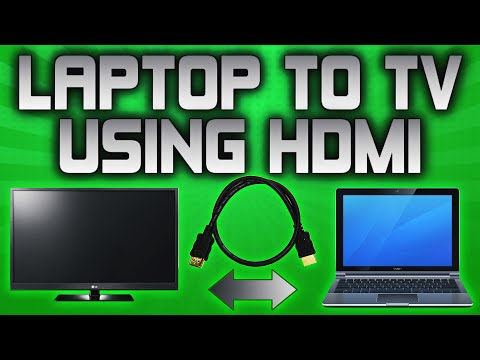 How To Connect Your Laptop To Your TV With a HDMi Cable