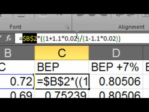 Drawing Breakeven Graphs in Excel