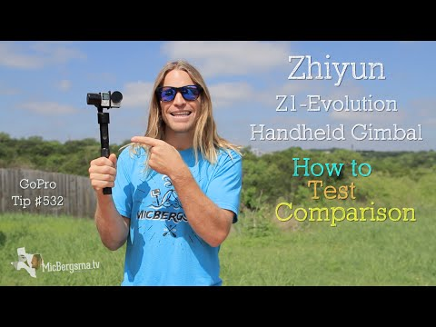 Zhiyun Z1-Evolution Handheld Gimbal for GoPro ( How to, test, & comparison ) GoPro Tip #532