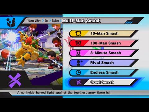 Super Smash Bros. for Wii U - Cruel Smash (Unlocking Duck Hunt + Duck Hunt Stage)