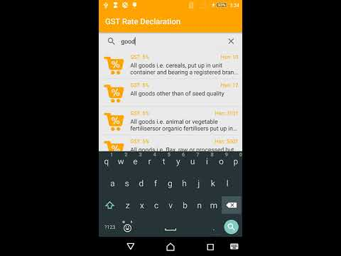 GST Rate Finder And Declaration