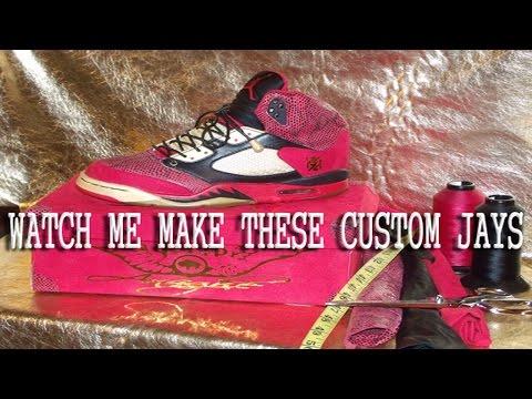 Manufacturing Process for Sewn Custom Sneakers (Jordan 5's)