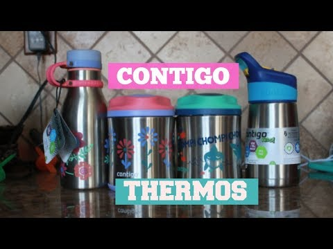 CONTIGO THERMOS FOOD JARS AND WATER BOTTLES