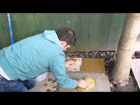 How To Point A Patio And Clean Indian Sandstone