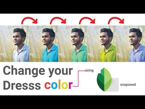 How To Change Dress Color Using Only Snapseed On Android || Photo Color Correction Editing Tutorial